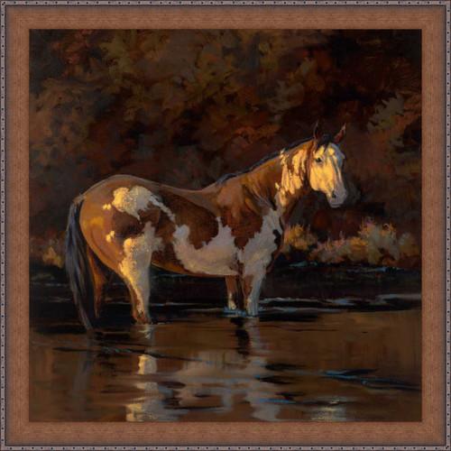 Wading Stallion Canvas Art
