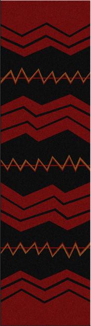 War Path Red Rug - 2 x 8