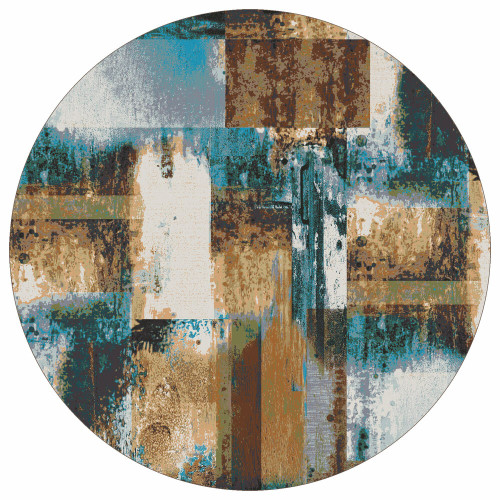 Watercolor Rust Rug -8 Ft. Round