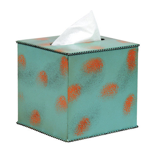 Weathered Turquoise Tissue Box Cover