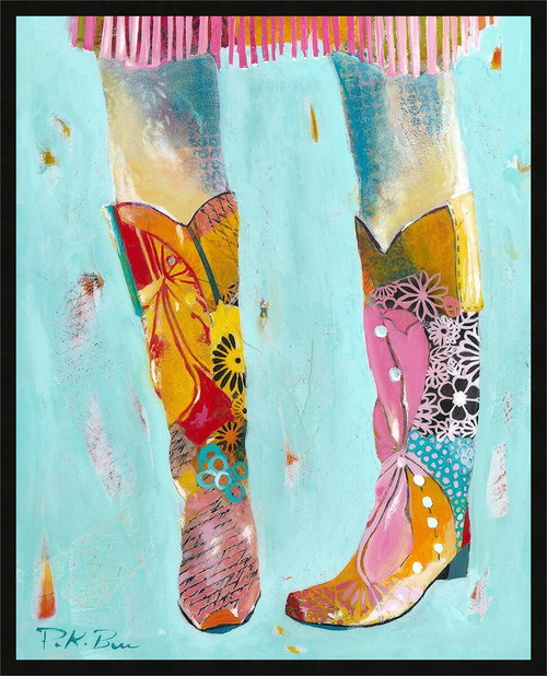 Western Boots Framed Wall Art