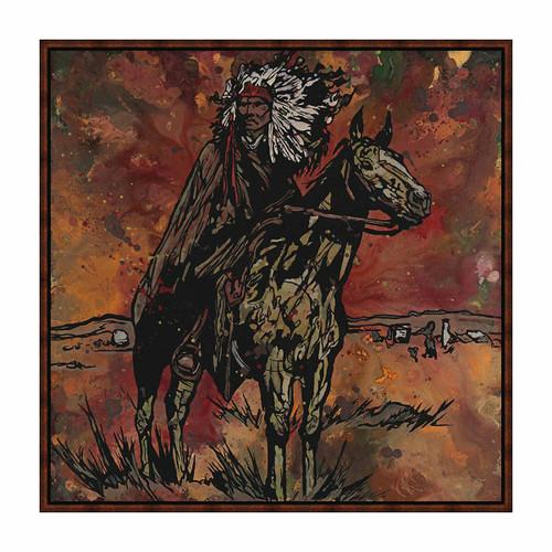 Western Chief Framed Canvas