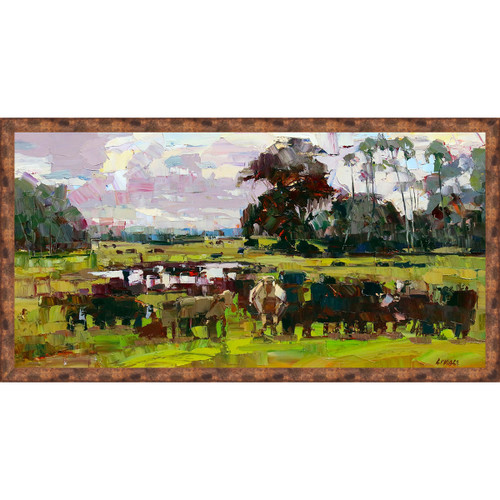 Western Mills Framed Print