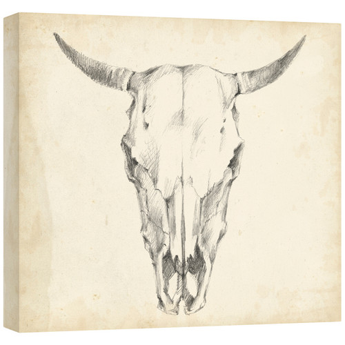 Western Skull Mount I Gallery Wrapped Canvas