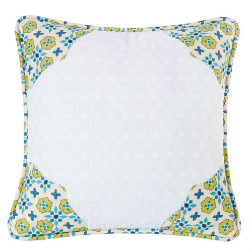 Western Spring Scalloped Accent Pillow