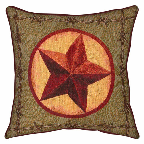Western Star Tapestry Pillow
