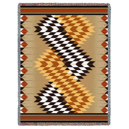 Whirlwind Sand Tapestry Throw