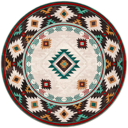 Whiskey River Electric Rug - 8 Ft. Round