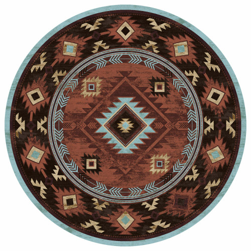 Whiskey River Rust Rug - 8 Ft. Round