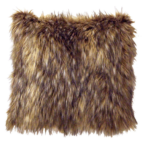 Whitebird Coyote Faux Fur Pillow