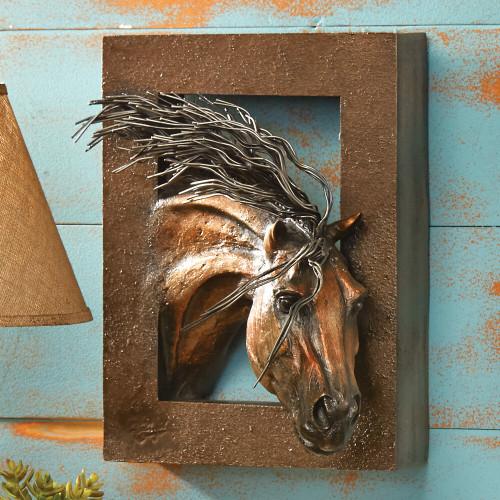Wild Beauty 3-D Horse Wall Sculpture