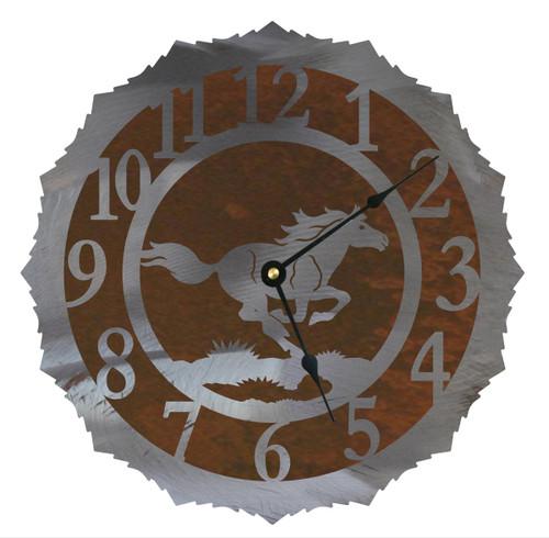 Wild Horses Clock - 12 Inch