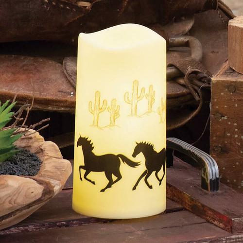 Wild Horses LED Candle