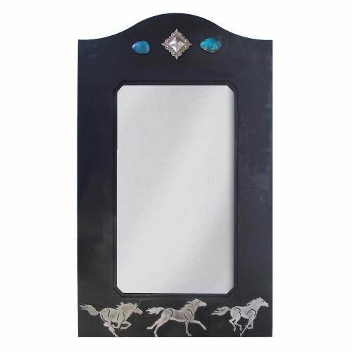 Wild Horses Mirror - 30 Inch
