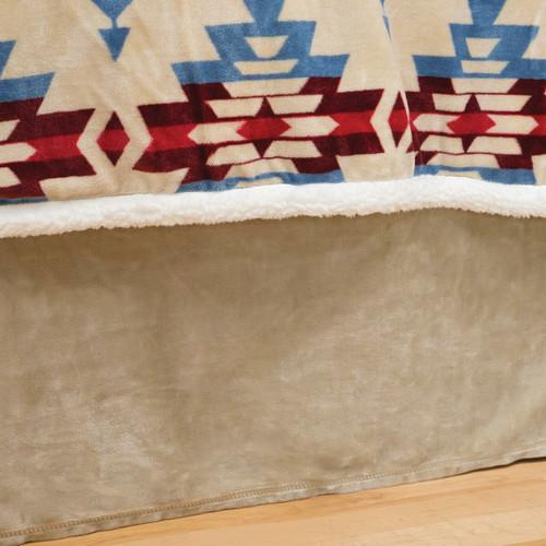 Wind River Plush Bedskirt - King