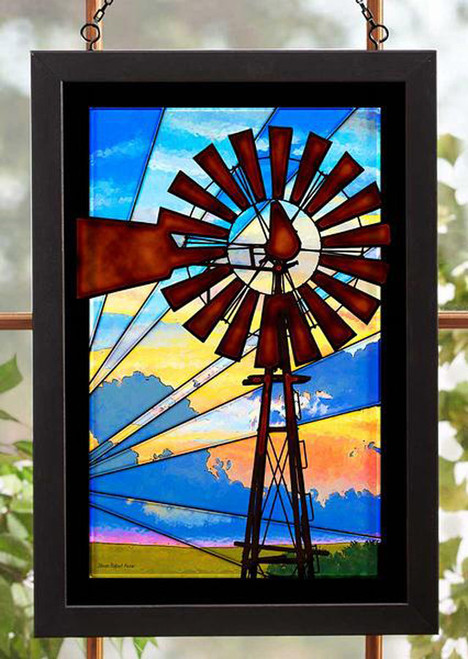 Windmill Stained Glass Art