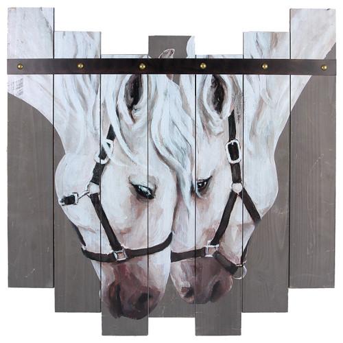 Wood Slat Horses Wall Art