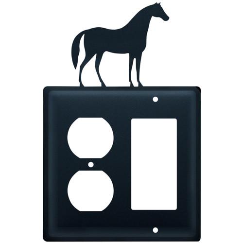Wrought Iron Horse Single Outlet & GFI Cover