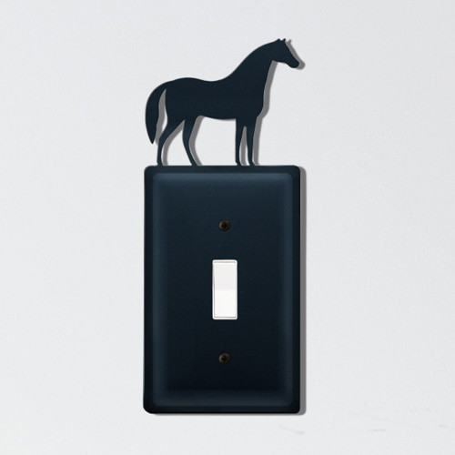 Wrought Iron Horse Single Switch Cover