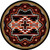 Rustic Cross Black Southwestern Rug - 8 Foot Round