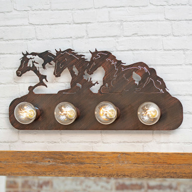 Galloping Horses Vanity - 4 Light