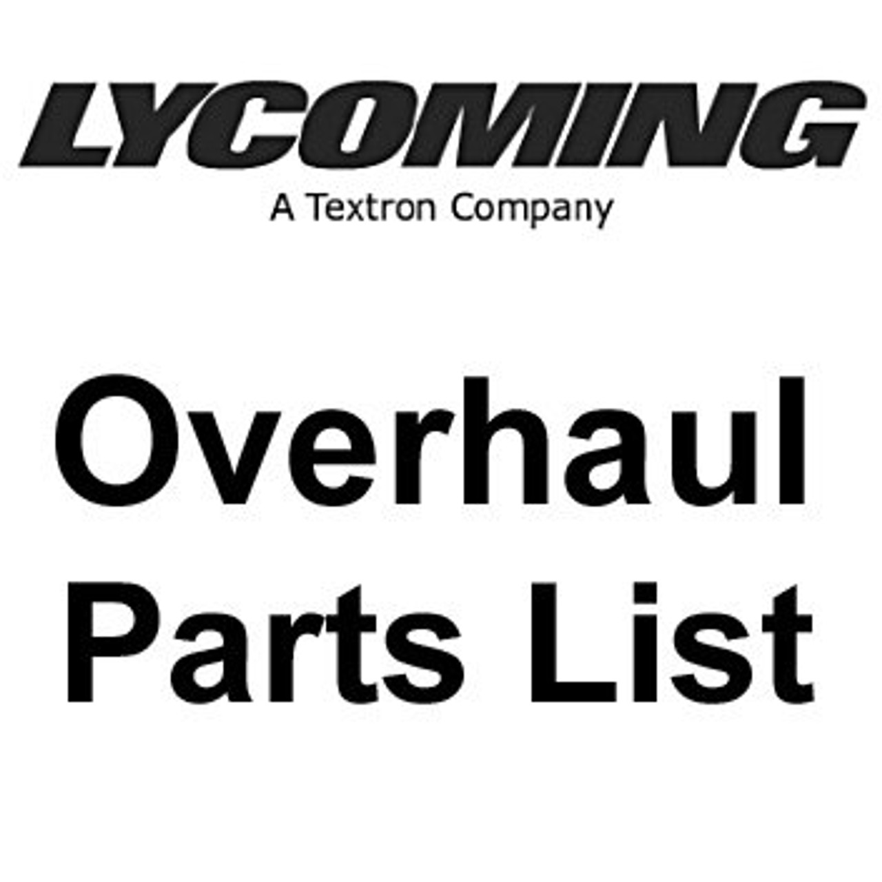 Continental At Overhaul 100% Parts Replacement List Engine