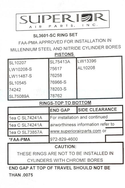 Ring Set Single Cylinder - SL3601-SC