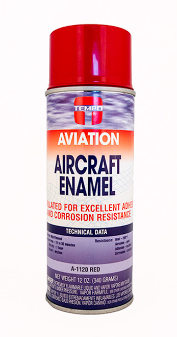Red Enamel Paint -12oz. Aerosol Spray Can - A1120