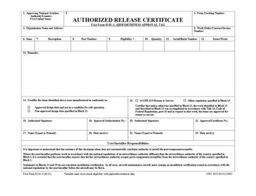 Export Form 8130