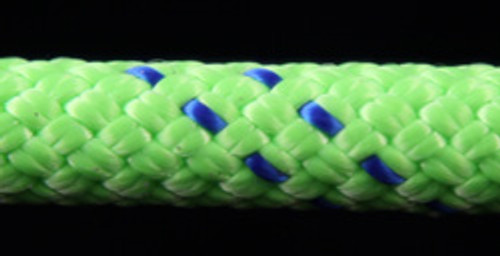 Green/Blue Slidedown Tie Down Ropes 7/16 - 33704