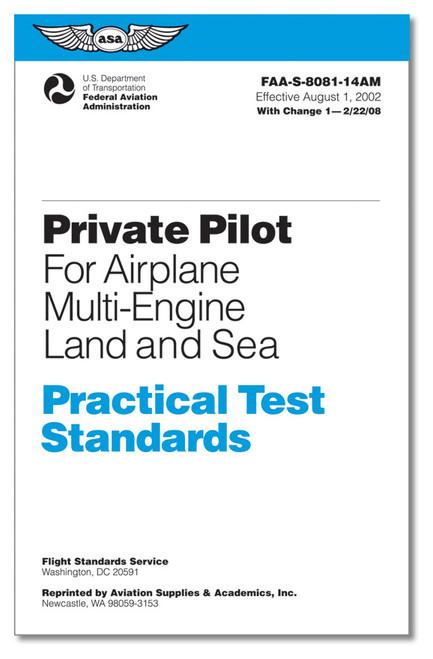 Practical Test Standards: Private Pilot Airplane (Multi Engine Land) - ASA-8081-14BM
