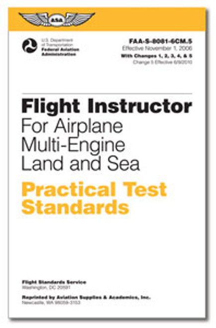 Practical Test Standards: CFI - Multi-Engine - ASA-8081-6DM
