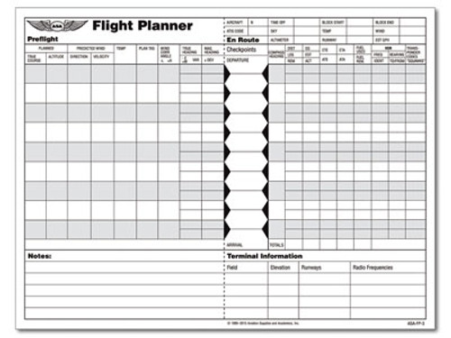 Flight Planner Sheets - ASA-FP-3 - Front Page