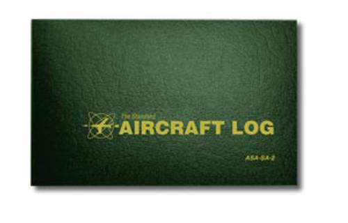Aircraft Log - Hard Cover - Hunter Green - ASA-SA-2