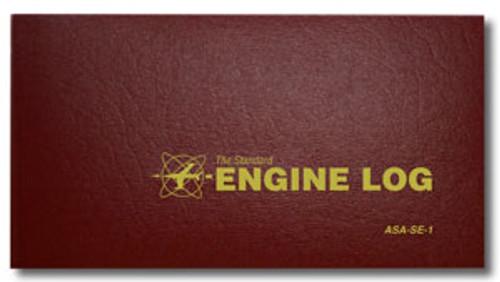 Engine Log - Soft Cover - Burgundy - ASA-SE-1