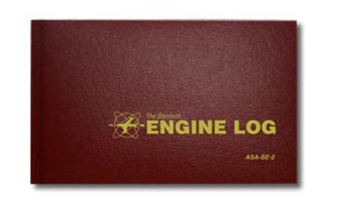 Engine Log - Hard Cover  - Burgundy - ASA-SE-2