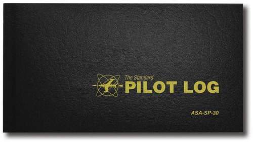 Standard Pilot Log - Hard Cover - Black - ASA-SP-30