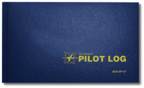 Standard Pilot Log - Hard Cover - Navy - ASA-SP-57