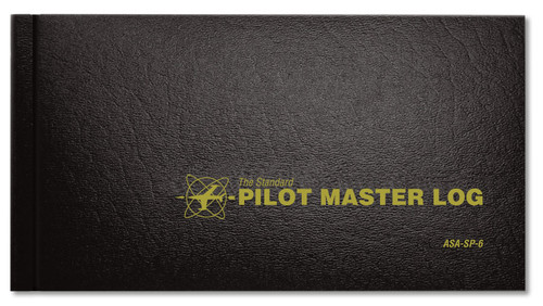 Standard Pilot Master Log - Hard cover - Black - ASA-SP-6