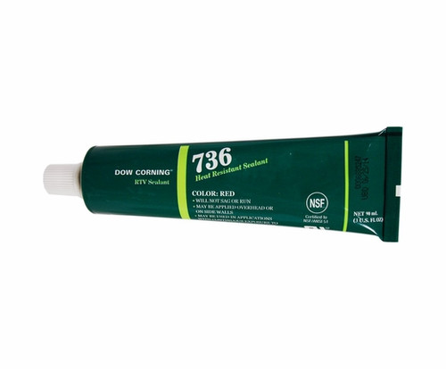 Dow Corning Heat Resistant Red Sealer - RTV-736R 3oz. tube