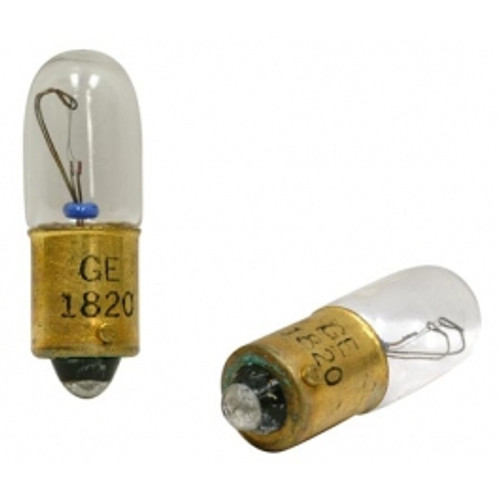 Miniature Incandescent Bulb, 28 Volt, 0.10 Amps - 1820