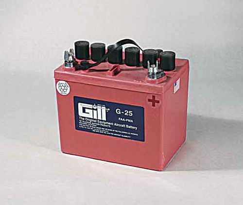 Gill G25 Battery with 2 qts acid - G25D