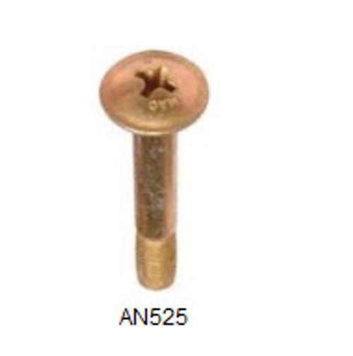 """Machine Screw, Length 1"""", Thread Size 8-32 (50 per pack) - AN525-8R16"""