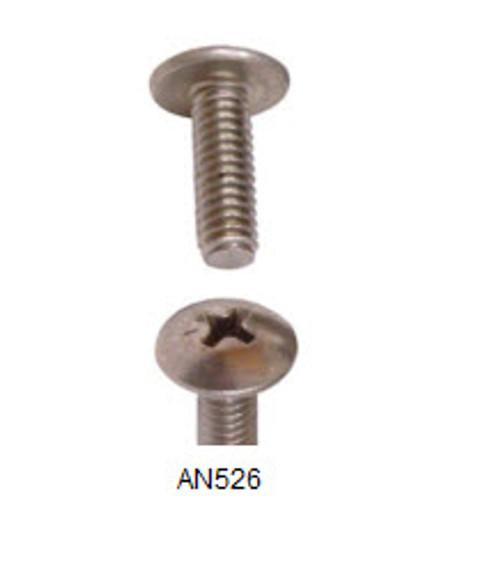 """Machine Screw,  Length 1"""", Thread Size 8-32 (50 per pack) - AN526-8R16"""
