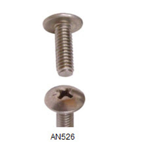 Machine Screw, Length 3/8, Thread Size 8-32 (50 per pack) - AN526-8R6