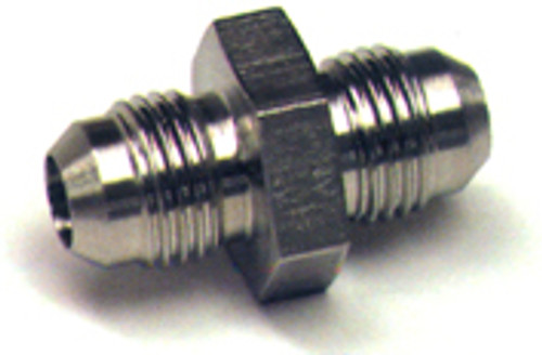 Union Flared Tube Fitting, O.D. 3/16, Thread Size 3/8-24 - AN815-3D