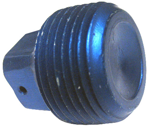 Plug, Square Head, Pipe Thread,  Aluminum, Thread Size 3/8 - AN913-3D