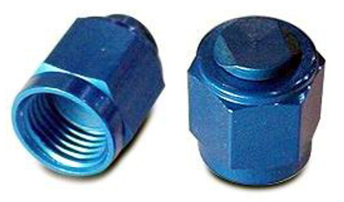 Cap, Flared Tube Fitting, Aluminum, Tube O.D 3/16, Thread Size 3/8-24 - AN929-3D