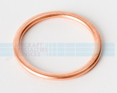 "Copper Gasket (Crush Washer), ID 1-1/8"", OD 1-3/8"" (AN900-18) (5 per pack) - MS35769-26"