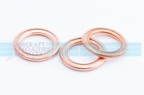 "Copper Gasket (Crush Washer), ID 1-7/16"", (AN900-7) (5 per pack)"